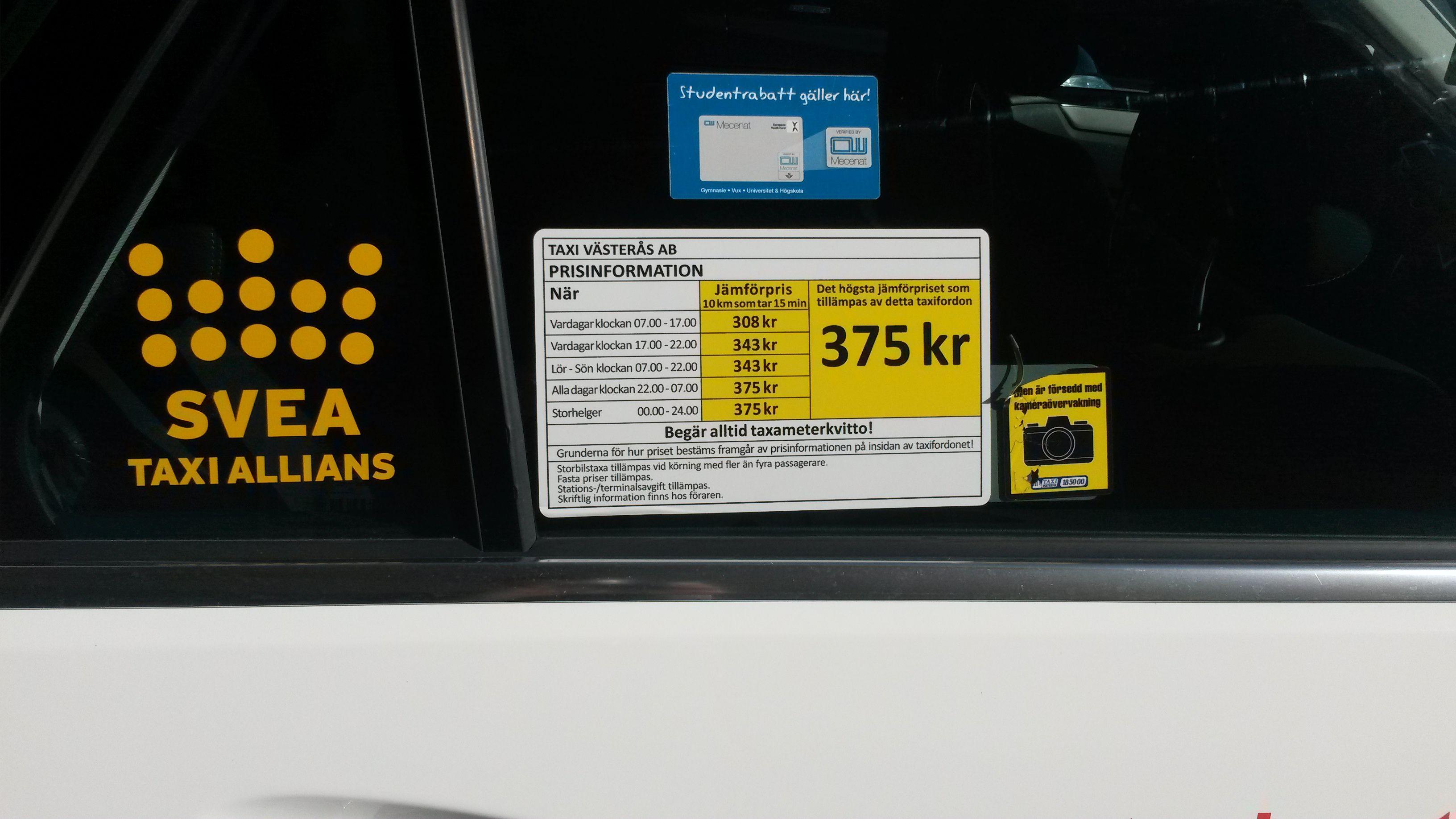 İsveç Taksi Etiketleri