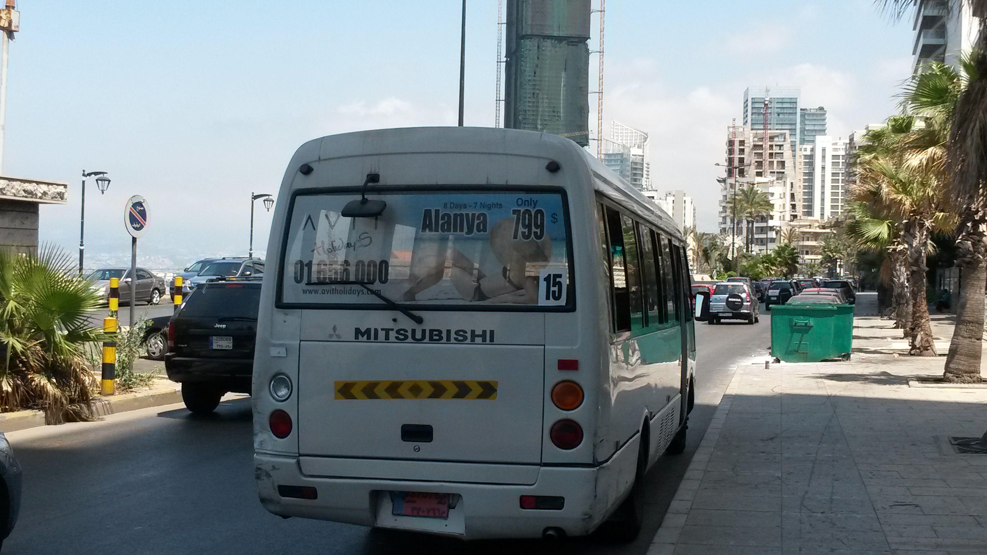 Beyrut'ta belediye otobüsü