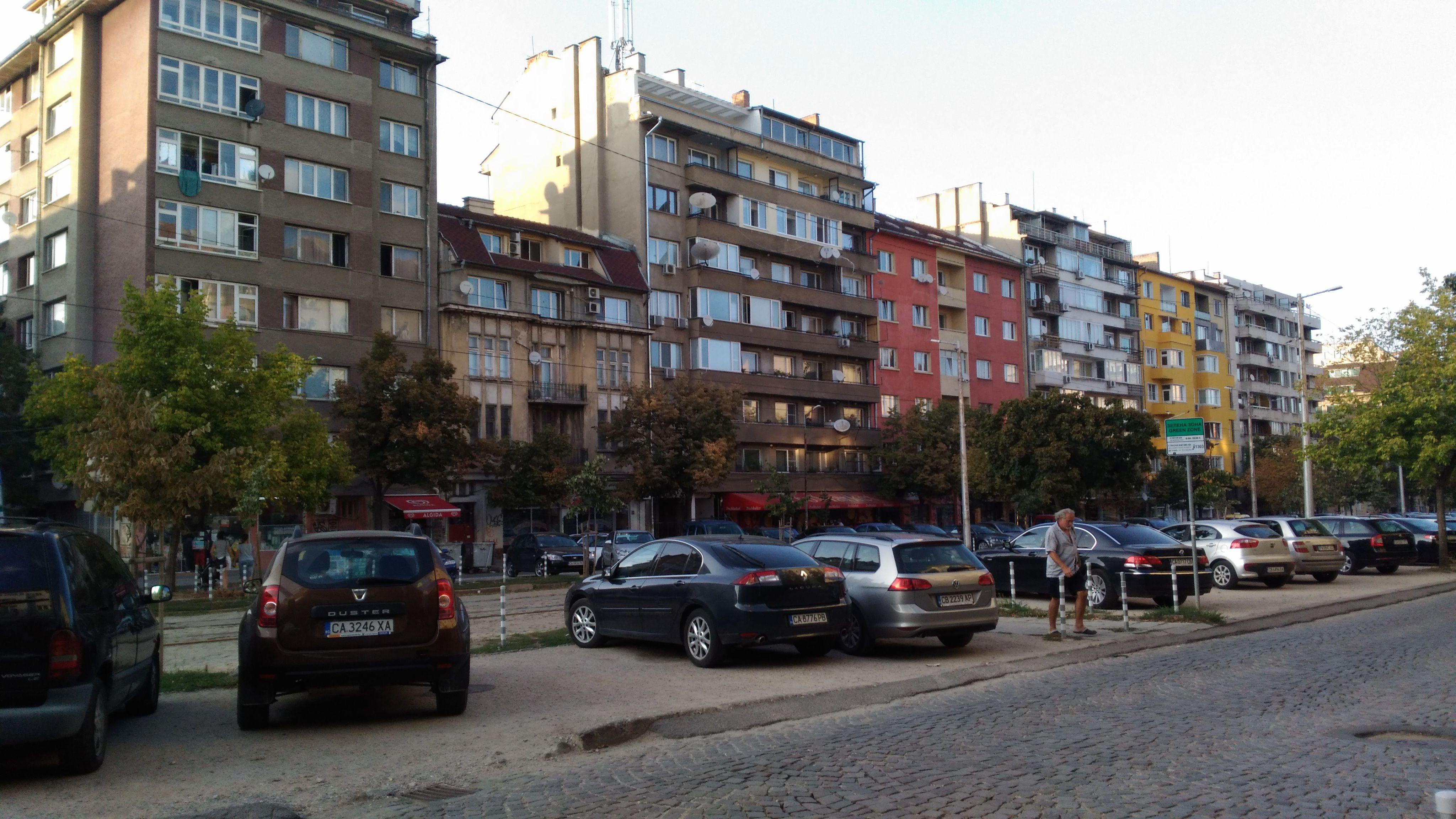 Sofya'nın geniş caddeleri